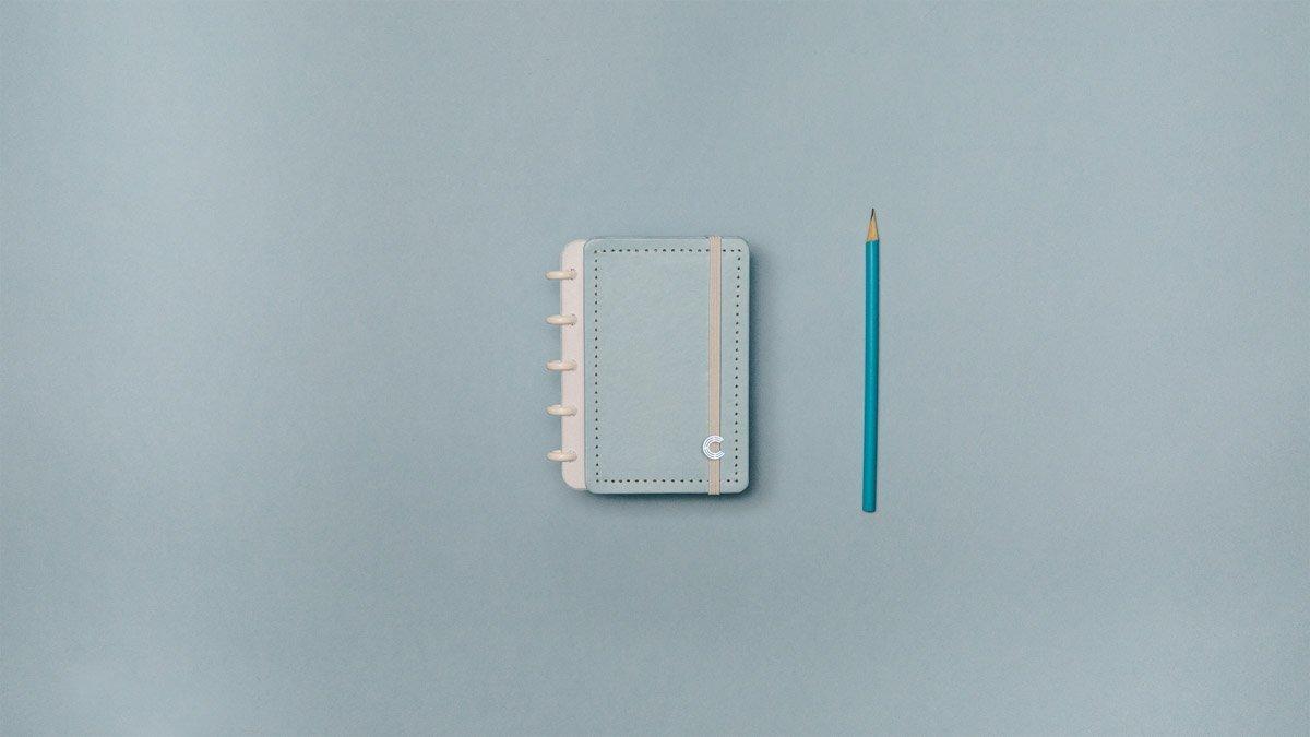 Caderno Inteligente Azul Pastel CI