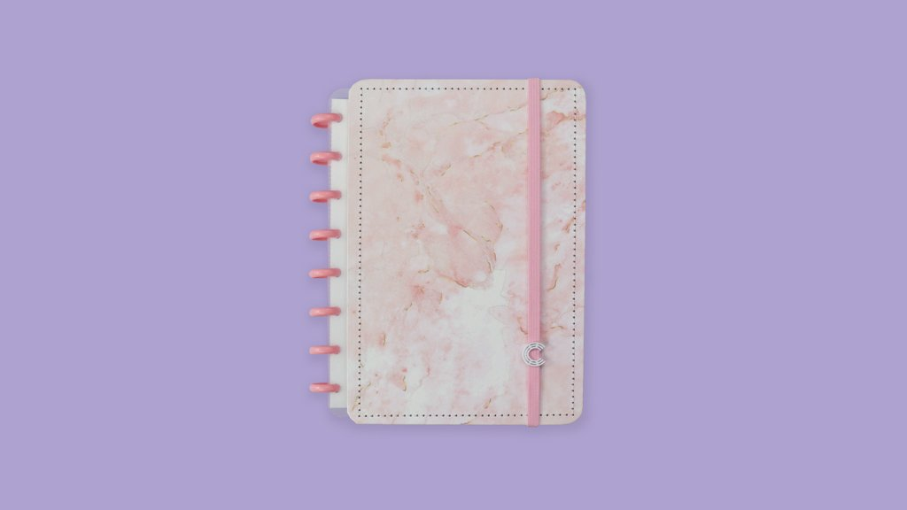 Caderno Inteligente Pink Marble Dream CI