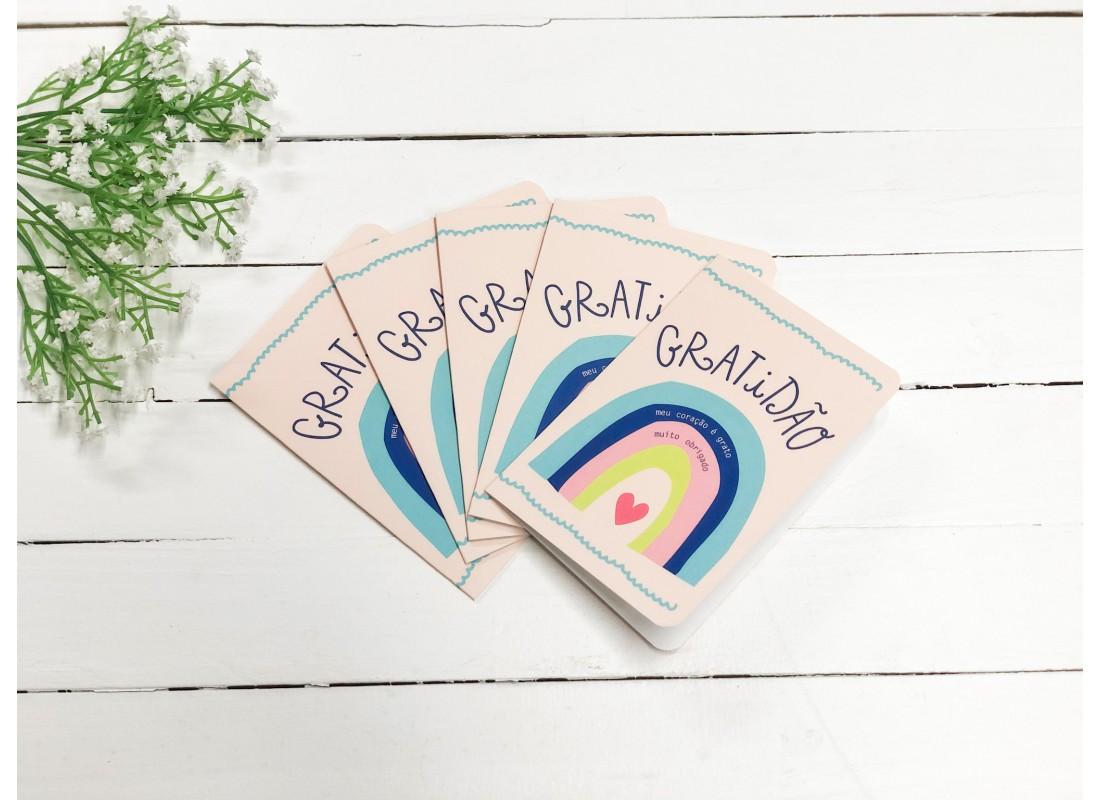 Cartão 10X14,5 Gratidão - DAJUJU