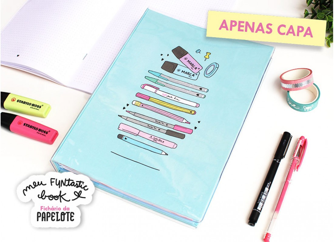 Case Fichario FUNtasticbook Papelouca PAPELOTE