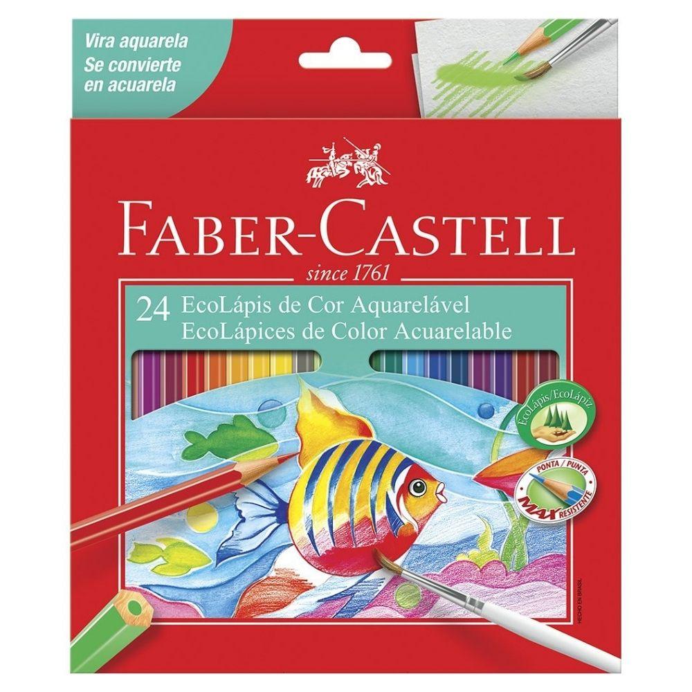Ecolápis de Cor Aquareláveis 24 cores FABER CASTELL