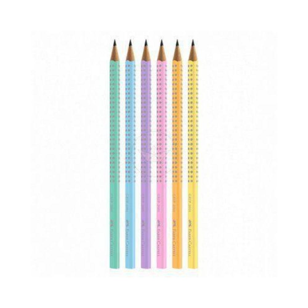Ecolápis de Escrever Grip Tons Pastel FABER CASTELL