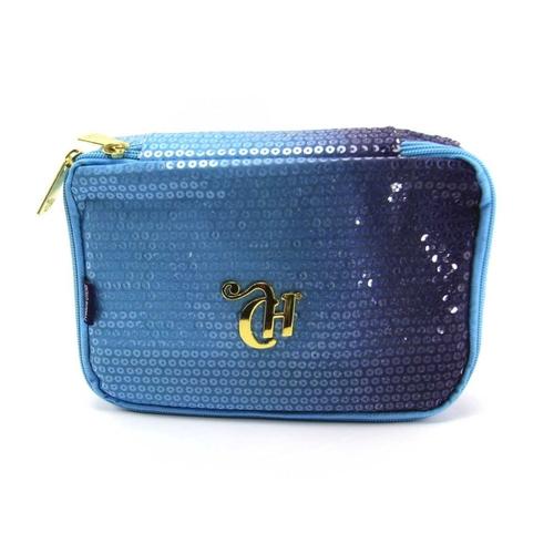 Estojo Box Azul Degradê Paetê CAPRICHO