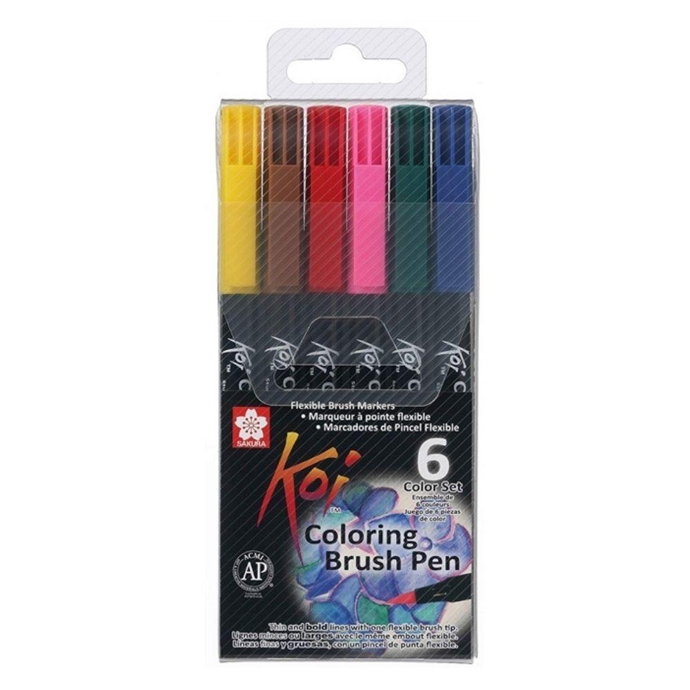 Kit Brush Pen 06 Cores KOI