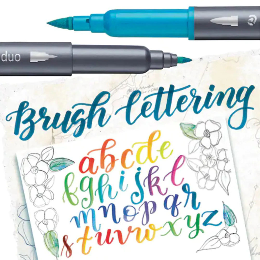 Kit Brush Pen 12 Cores Duo STAEDTLER