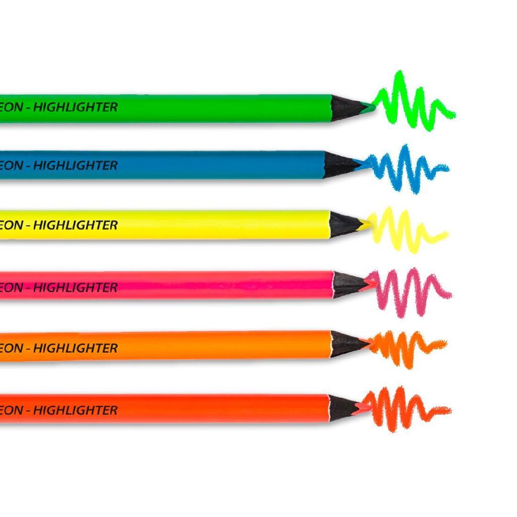 Kit de Lápis Marca-Texto Jumbo Neon  MOLIN