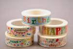 Kit Washi Tape Happy Birthday GLOBAL