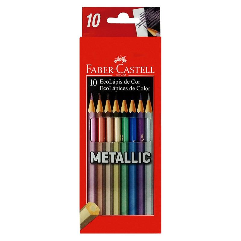 Lápis de Cor Metallic 10 Cores FABER CASTELL