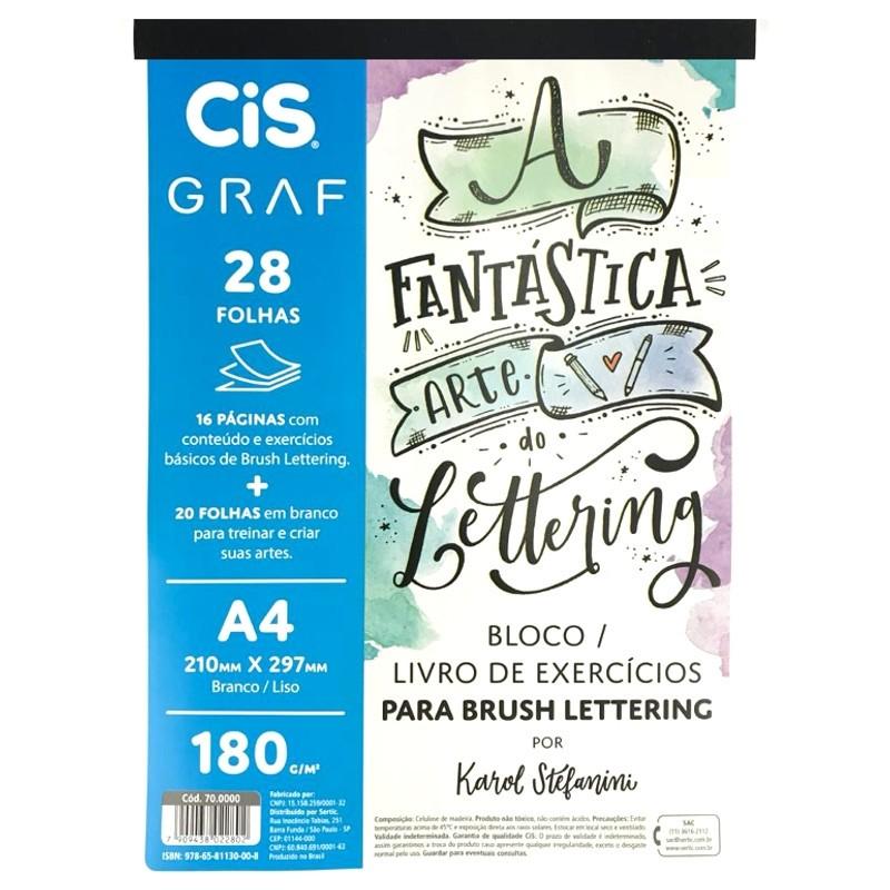Livro Bloco Lettering A4 180G - CIS