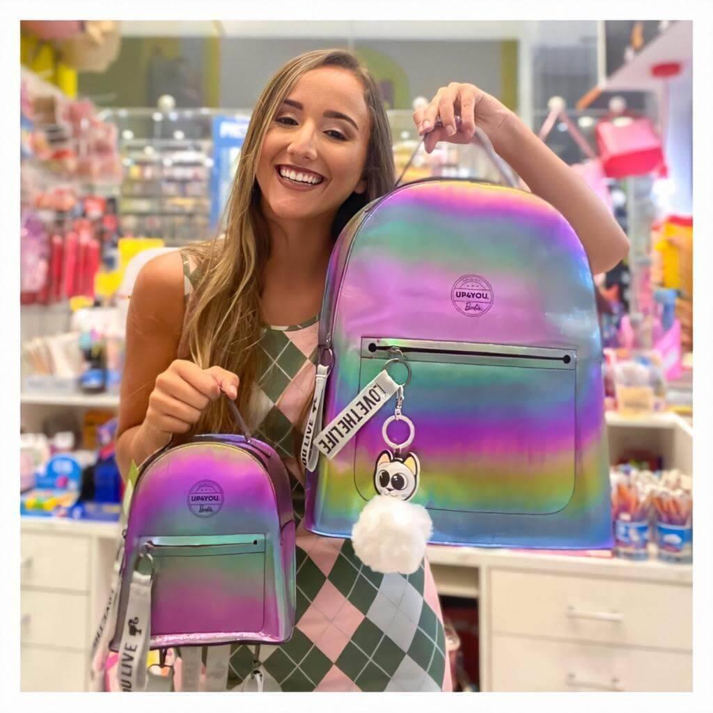 Mochila Costas Barbie Holográfica Fosca Grande - UP4YOU