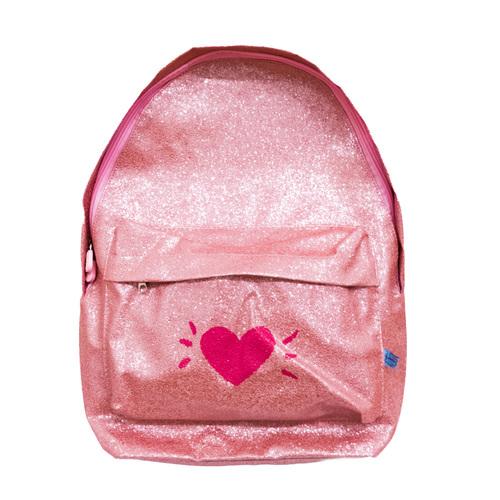 Mochila Shine Coração rosa - FRICOTE