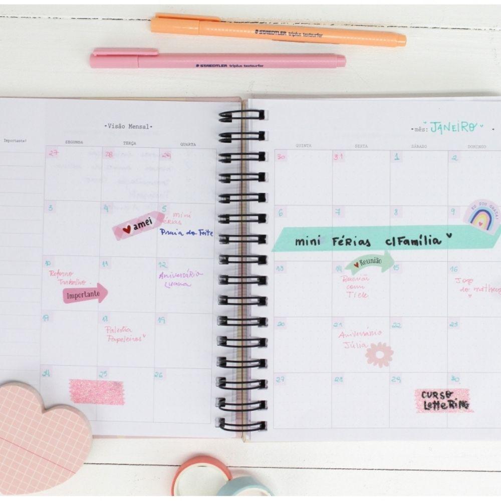 """Planner """"Um Dia de Cada Vez"""" PAPELOTE"""