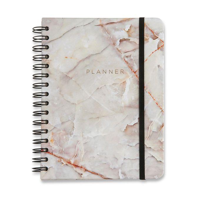 Planner Wire-o Minerais Mármore Branco 14,8 x21 CÍCERO