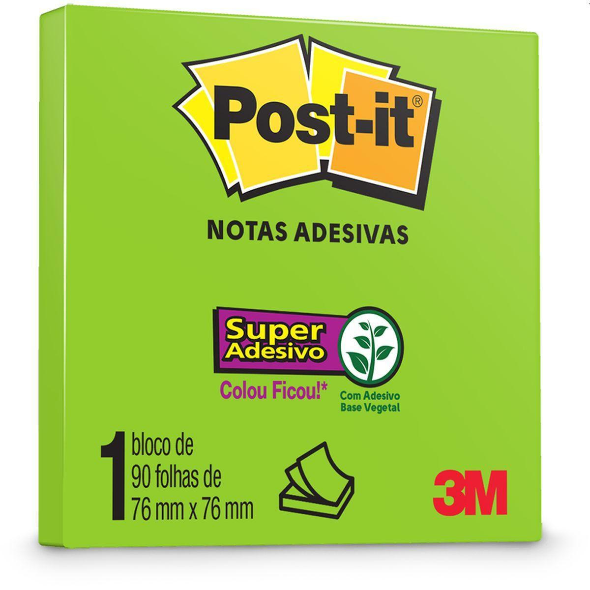 Post-It 90 Folhas 76x76mm Limeade 3M