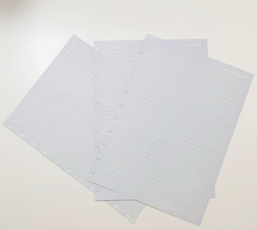 Refil Caderno de Disco Nublado Linhas Brancas A4 90g EMPLACA