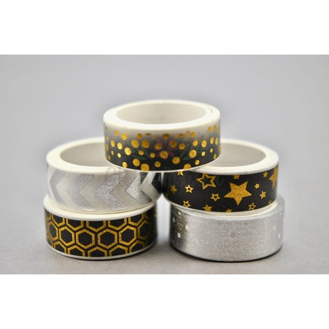 Washi Tapes Silver & Gold GLOBAL