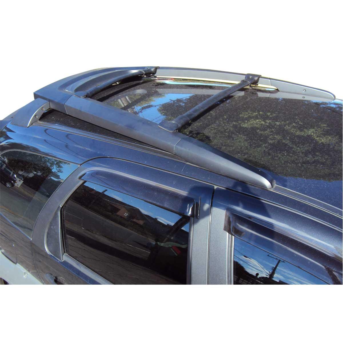 Travessa rack de teto larga preta alumínio Strada Adventure 2009 a 2017