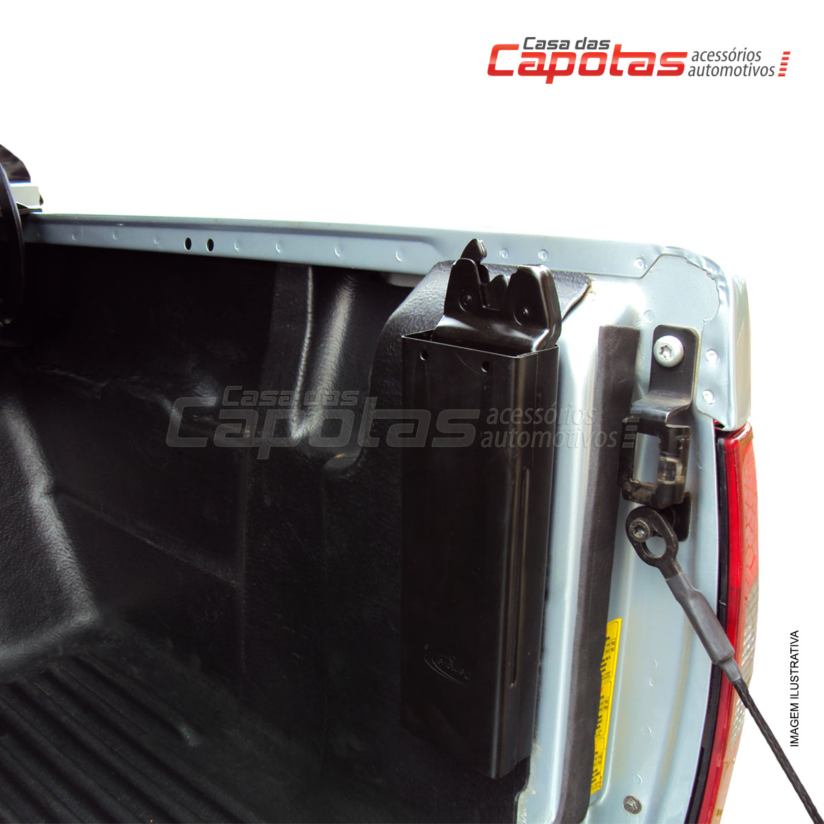 Tampão de aço capota elétrica L200 Triton XB, GL, GLS, GLX e Outdoor MT Diesel