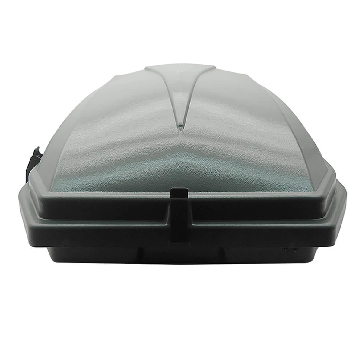 Bagageiro de teto maleiro com chave 270 litros cinza