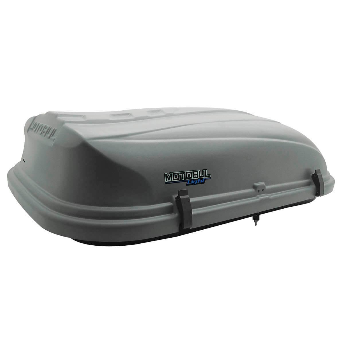 Bagageiro de teto maleiro com chave 380 litros cinza - LIGHT