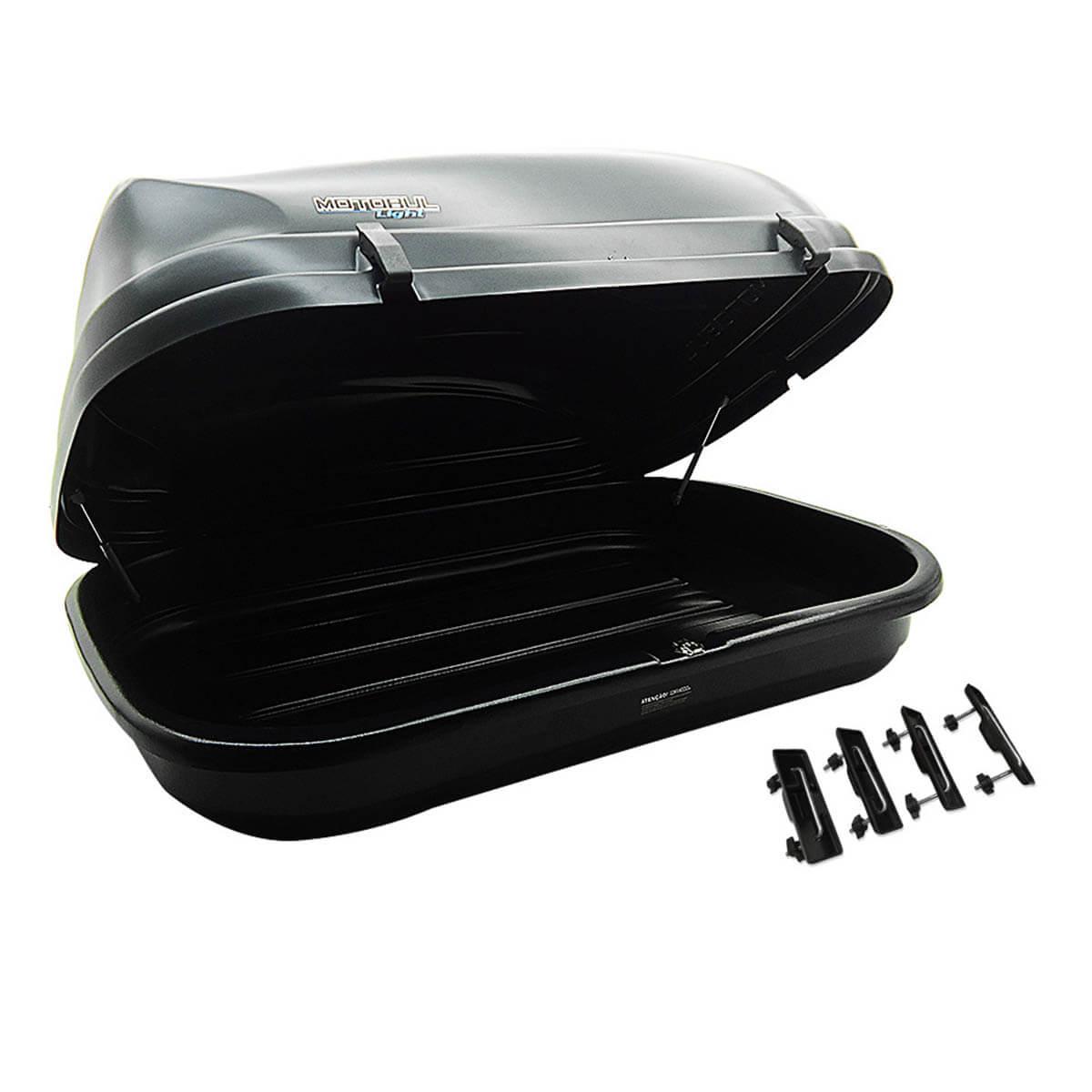 Bagageiro de teto maleiro com chave 510 litros preto - LIGHT