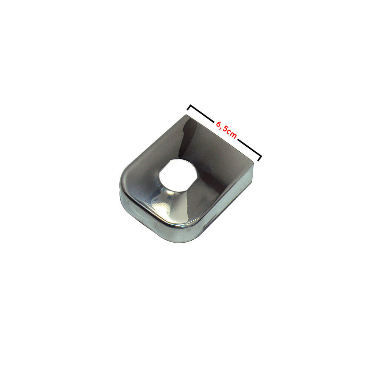Capa inox para engate de reboque 6,5 cm de largura
