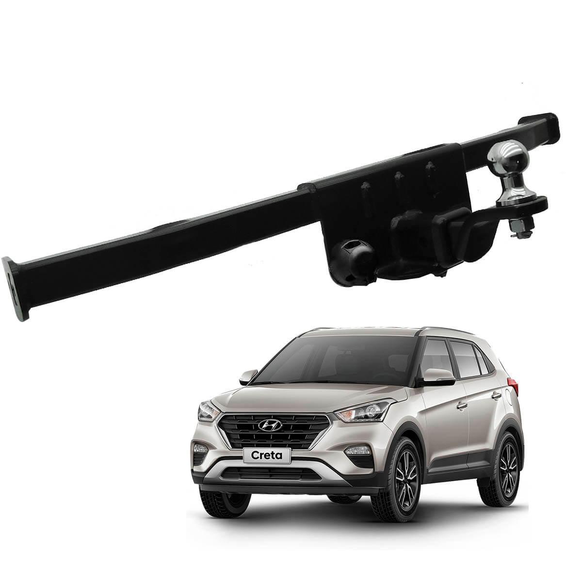 Engate de reboque Hyundai Creta 2017 2018 Keko K1 removível 750 kg
