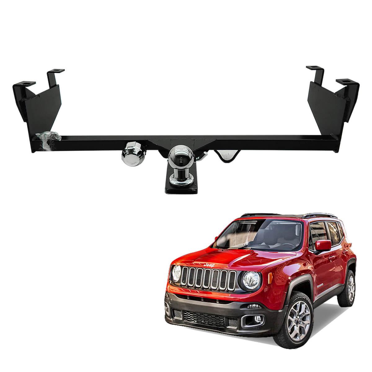 Engate de reboque Jeep Renegade 2016 a 2018 tração 4x2 removível 1000 Kg