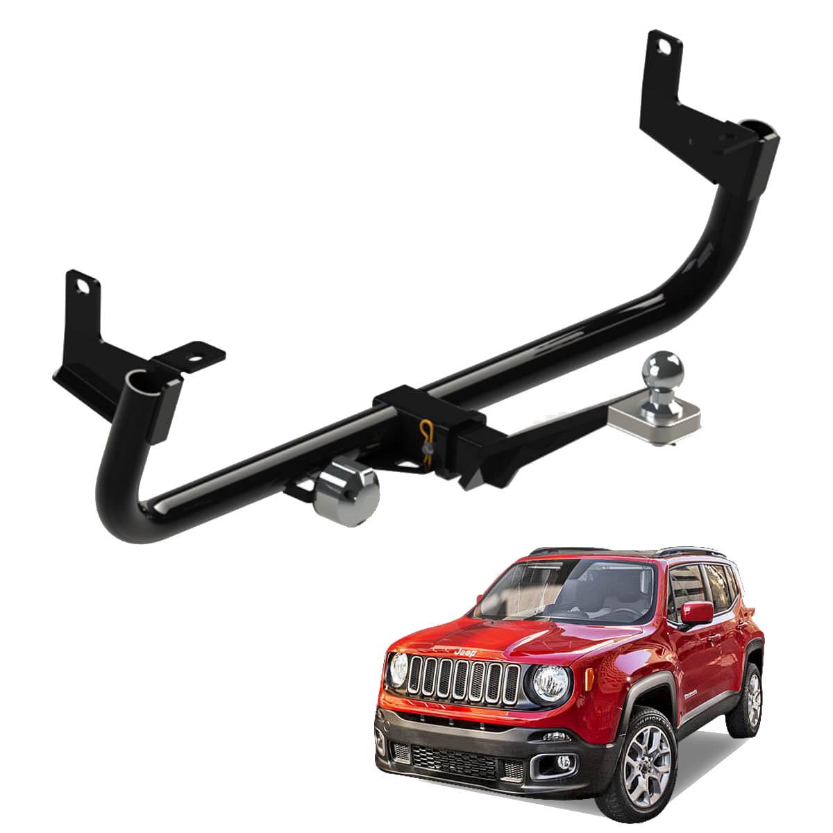 Engate de reboque Jeep Renegade 2016 a 2018 4x2 ou 4x4 removível 700 kg
