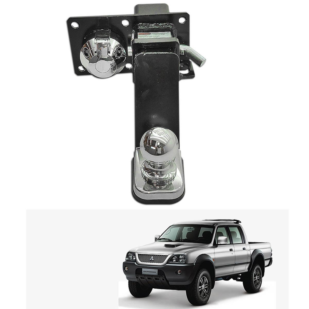 Engate de reboque L200 Sport 2004 a 2007 ou L200 Outdoor 2007 a 2012 removível 1500 Kg