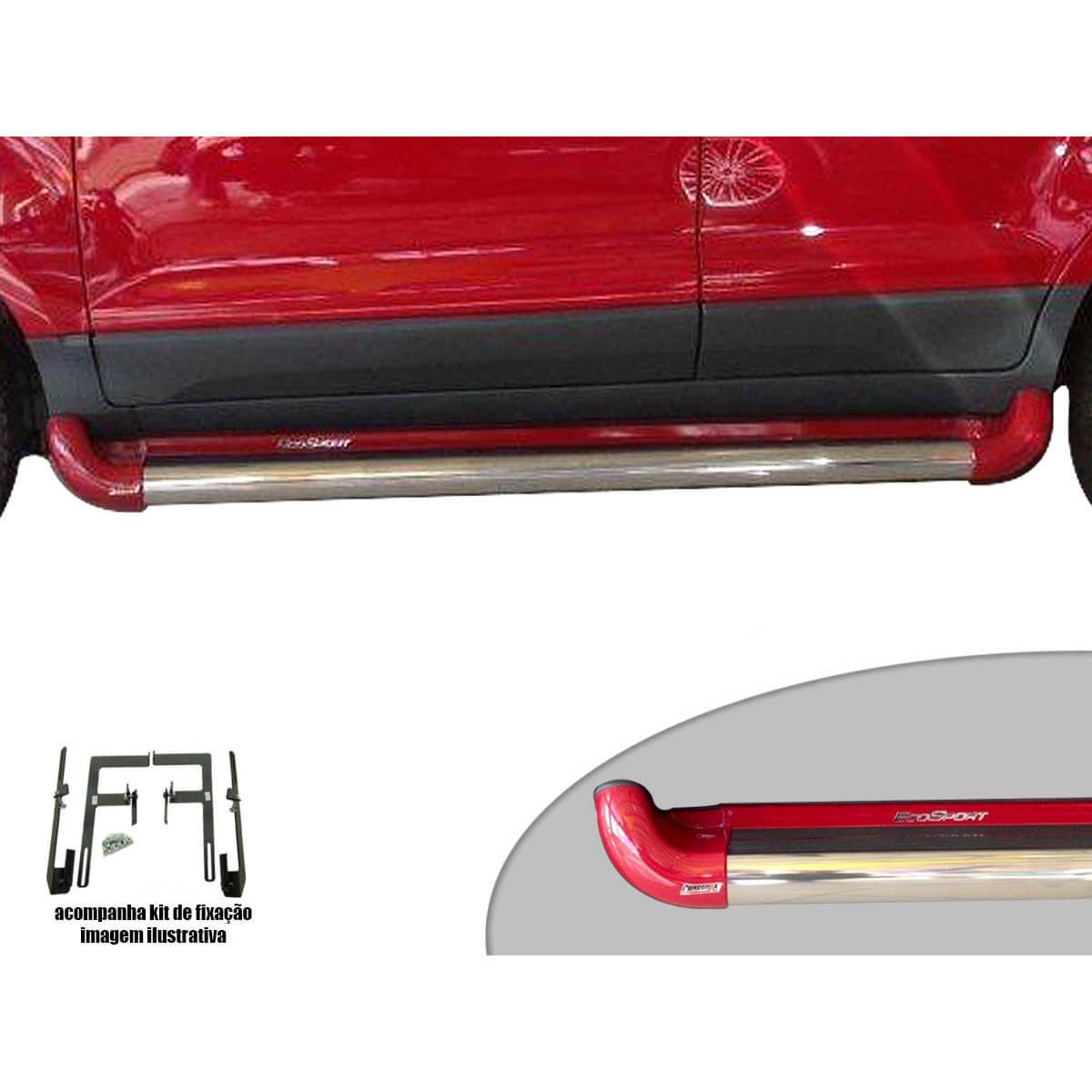 Estribo Novo Ecosport 2013 a 2017 cor Vermelho Arpoador