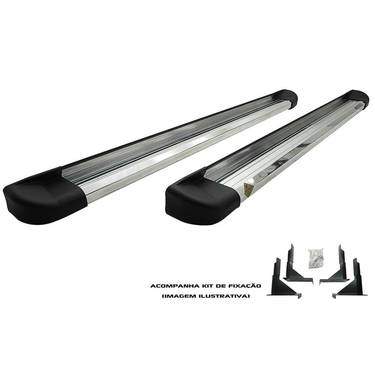 Estribo plataforma alumínio Amarok cabine dupla 2011 a 2017