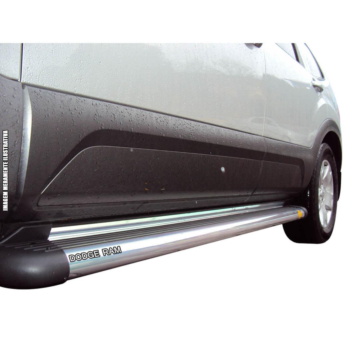 Estribo plataforma alumínio Dodge Ram cabine dupla 2005 a 2011