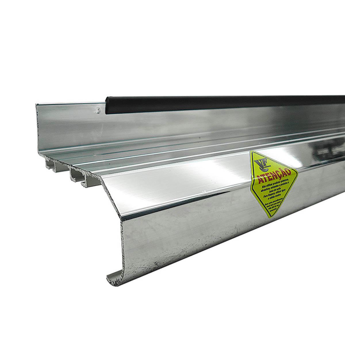 Estribo plataforma alumínio Hilux cabine dupla 2005 a 2015
