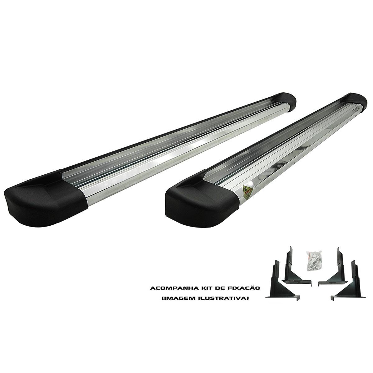Estribo plataforma alumínio L200 Triton 2008 a 2018