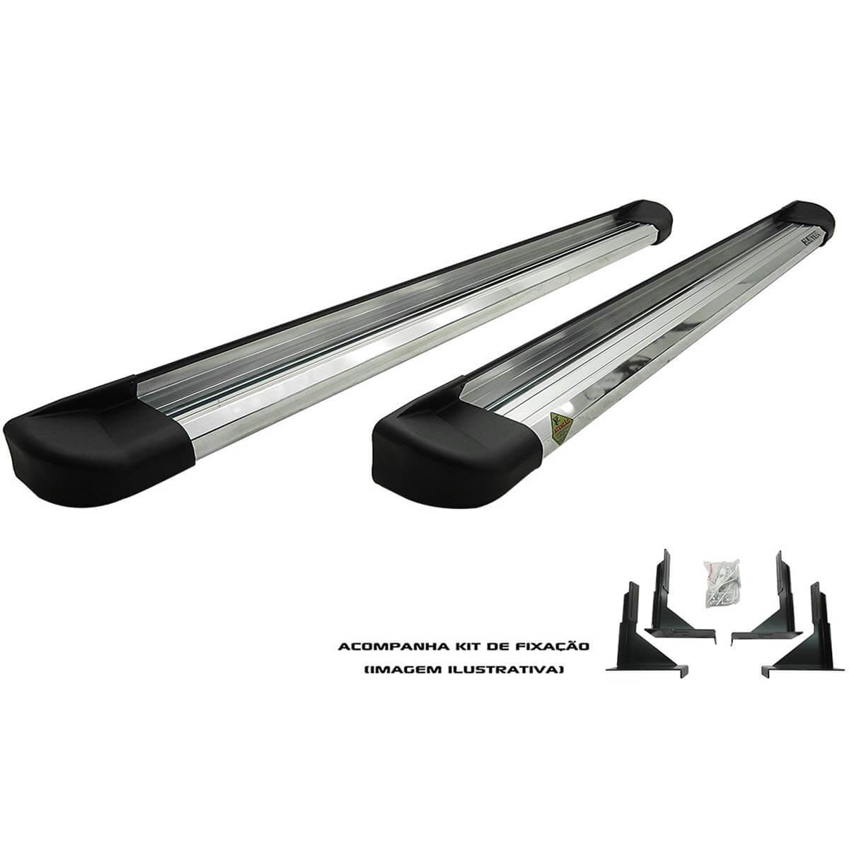 Estribo plataforma alumínio Novo Ecosport 2013 a 2017