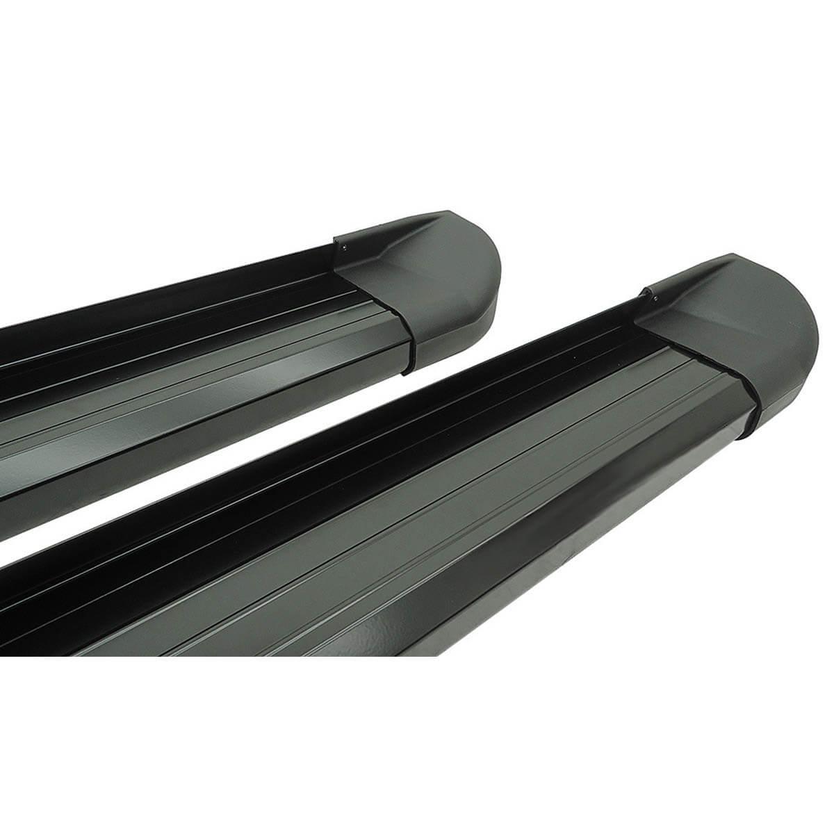 Estribo plataforma alumínio preto Amarok cabine dupla 2011 a 2017