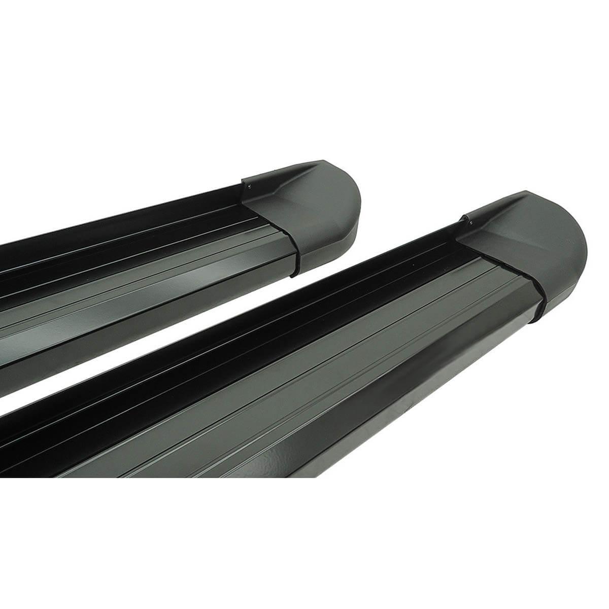 Estribo plataforma alumínio preto Frontier 2008 a 2016