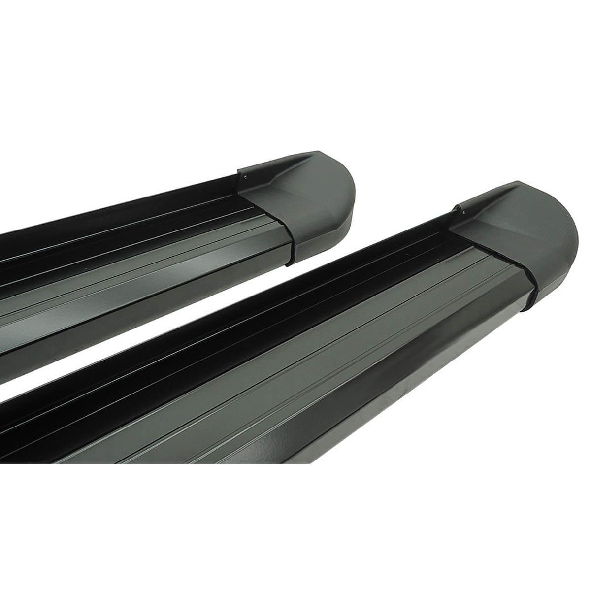 Estribo plataforma alumínio preto Hilux cabine dupla 2005 a 2015