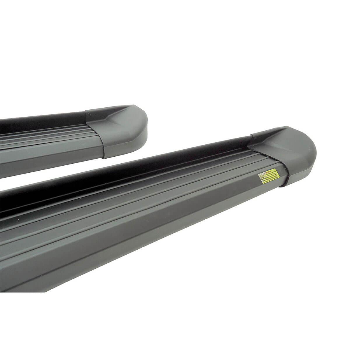 Estribo plataforma alumínio preto L200 Triton 2008 a 2018