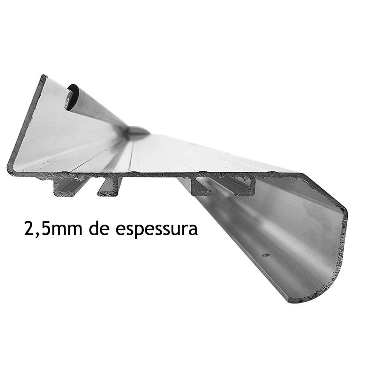 Estribo plataforma alumínio preto Novo Ecosport 2013 a 2017