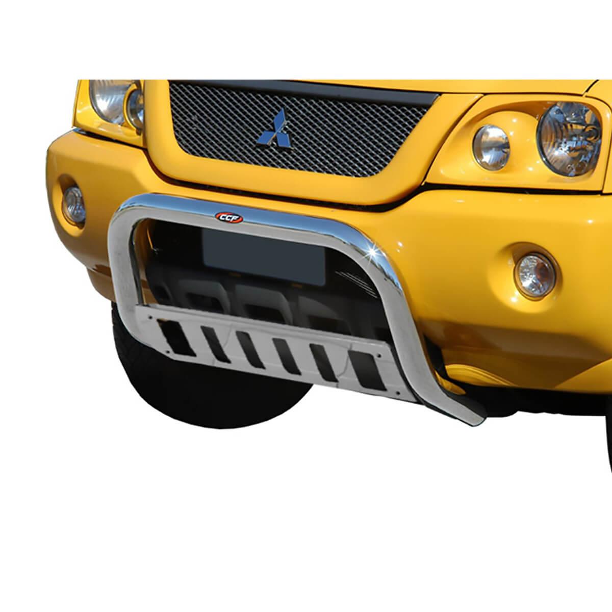 Parachoque impulsão cromado L200 Sport 2004 a 2007 ou L200 Outdoor 2007 a 2012