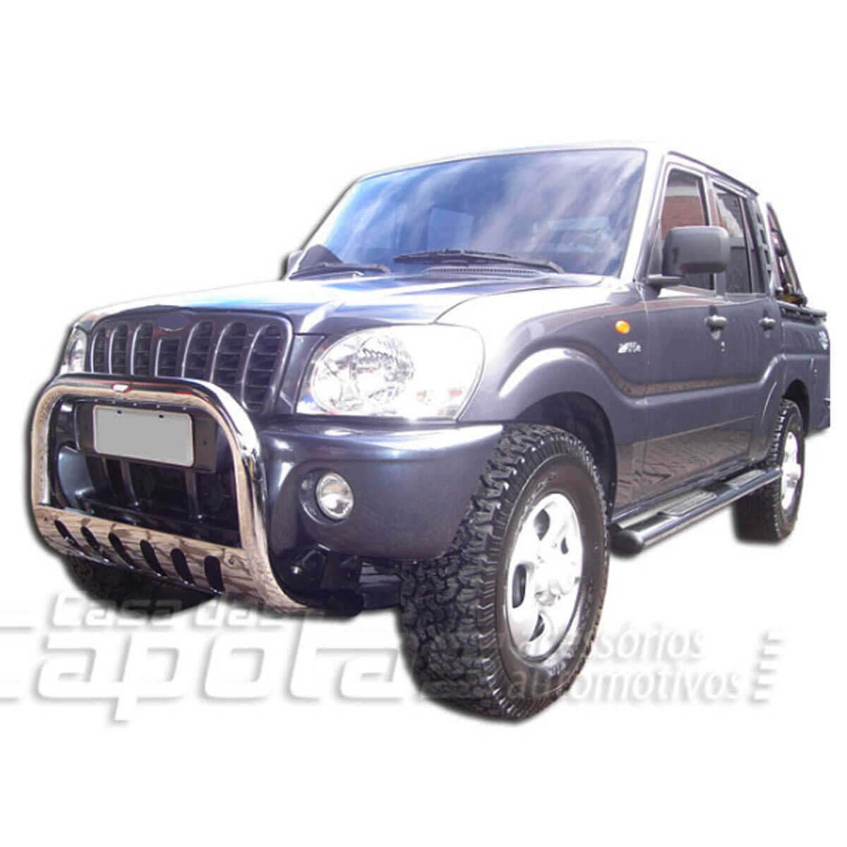 Parachoque impulsão Mahindra pick up ou SUV 2008 a 2014