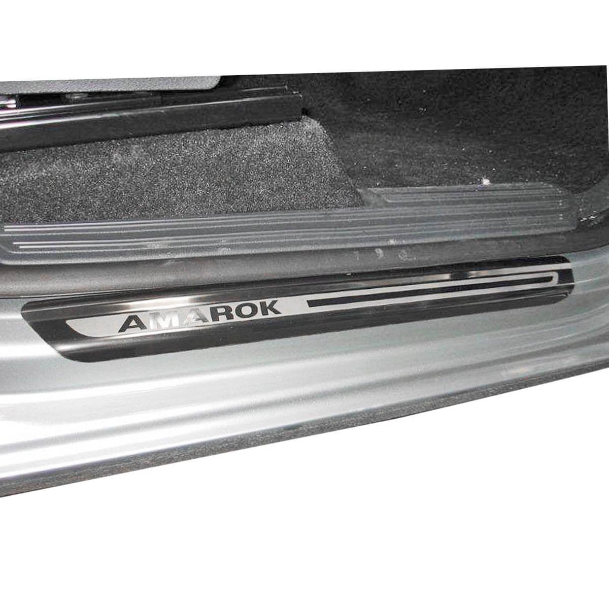 Protetor de soleira aço inox Amarok cabine dupla 2011 a 2017