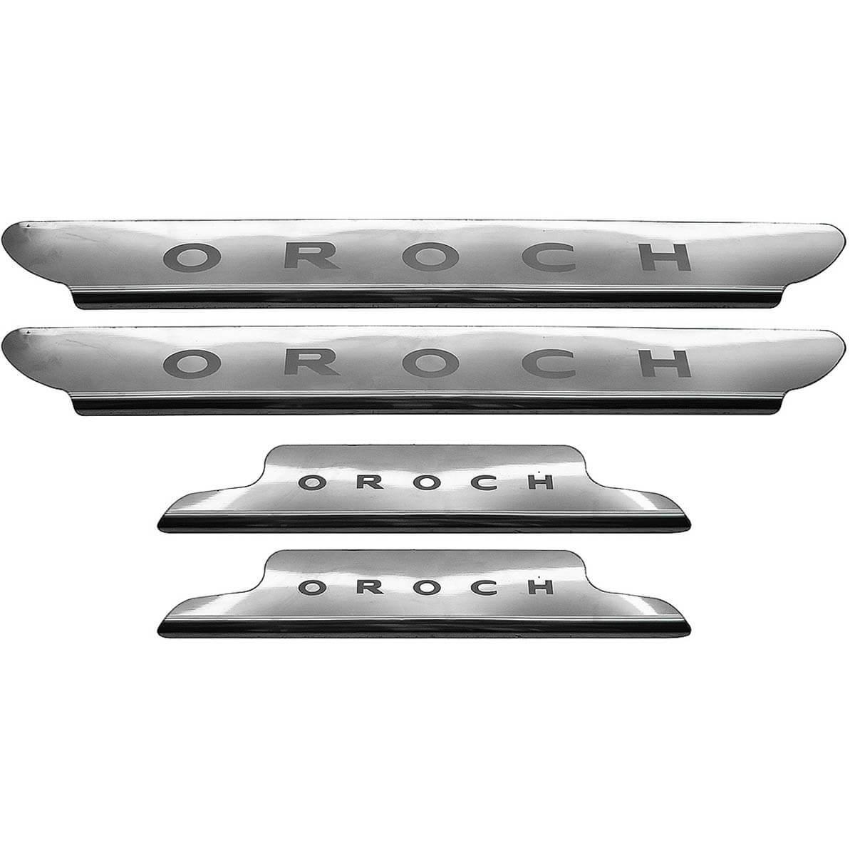 Protetor de soleira aço inox Duster Oroch 2016 2017