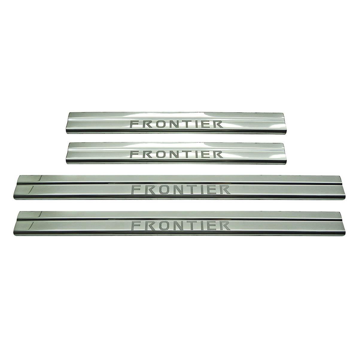Protetor de soleira aço inox Frontier 2008 a 2016