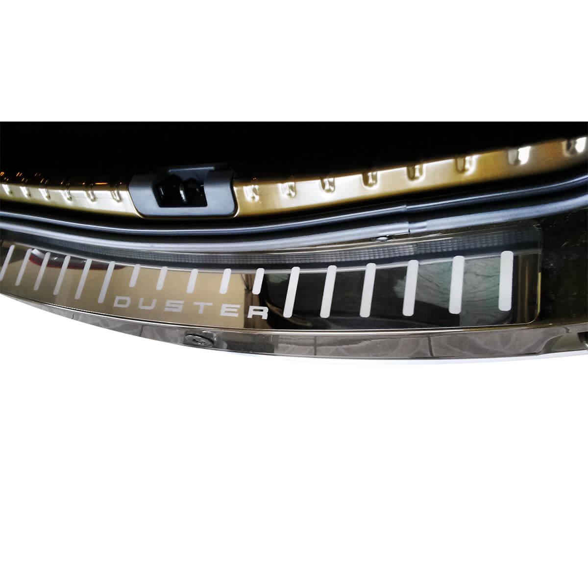 Protetor de soleira porta malas aço inox Duster 2012 a 2017