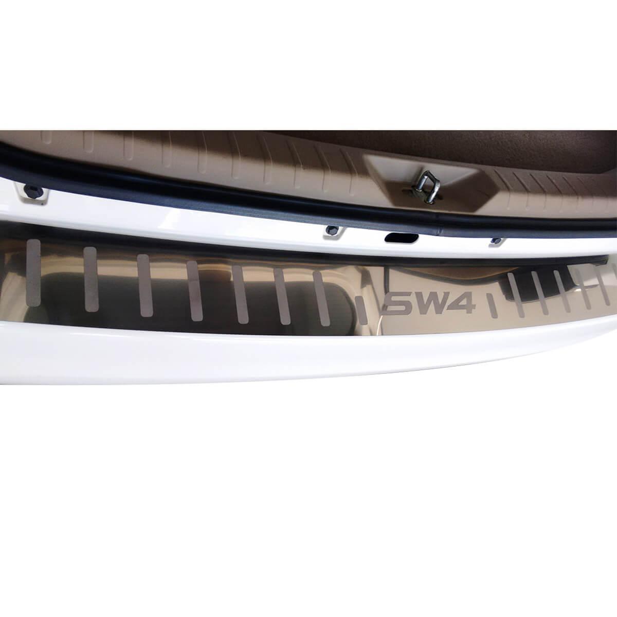 Protetor de soleira porta malas aço inox SW4 2005 a 2015