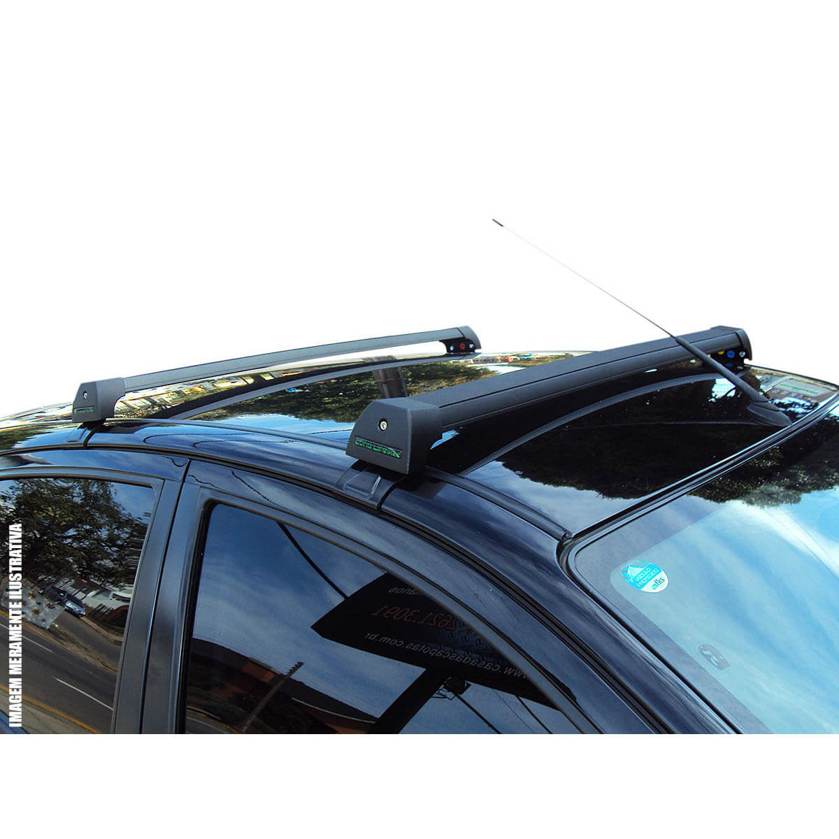 Rack de teto Corolla 2009 a 2014 Long Life Sports preto