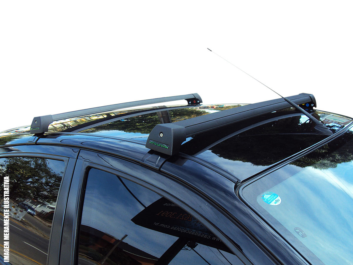Rack de teto Cruze Sedan ou Sport6 2012 a 2016 Long Life Sports preto